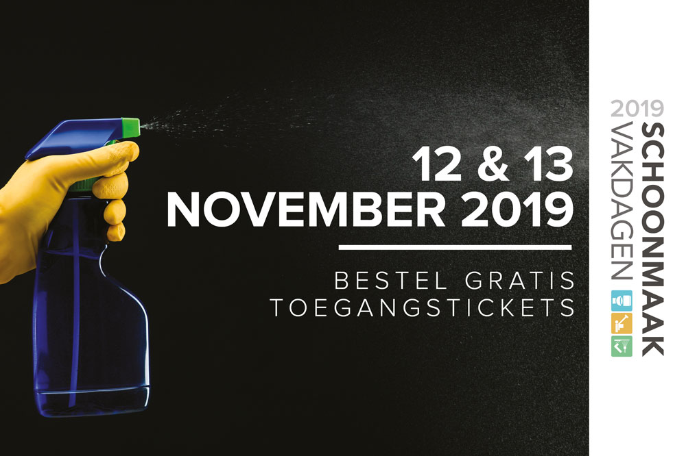 SAVE THE DATE: 12 & 13 november 2019 Schoonmaak Vakdagen 2019